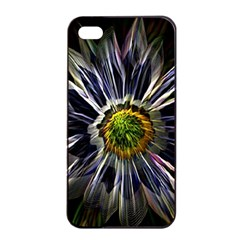 Flower Structure Photo Montage Apple Iphone 4/4s Seamless Case (black)