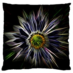 Flower Structure Photo Montage Large Flano Cushion Case (one Side)