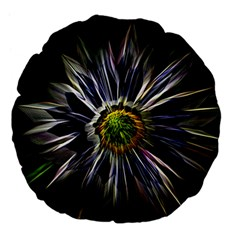 Flower Structure Photo Montage Large 18  Premium Flano Round Cushions by BangZart