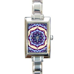 Mandala Art Design Pattern Rectangle Italian Charm Watch by BangZart