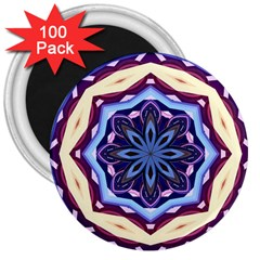 Mandala Art Design Pattern 3  Magnets (100 Pack)