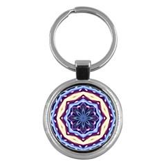 Mandala Art Design Pattern Key Chains (round)