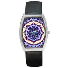 Mandala Art Design Pattern Barrel Style Metal Watch by BangZart