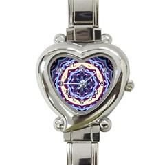 Mandala Art Design Pattern Heart Italian Charm Watch by BangZart