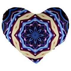Mandala Art Design Pattern Large 19  Premium Heart Shape Cushions by BangZart