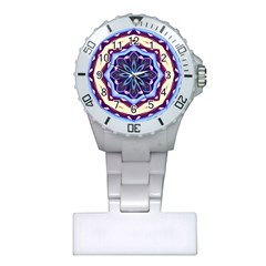 Mandala Art Design Pattern Plastic Nurses Watch