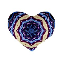Mandala Art Design Pattern Standard 16  Premium Flano Heart Shape Cushions by BangZart