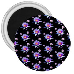 Flowers Pattern Background Lilac 3  Magnets by BangZart