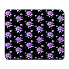 Flowers Pattern Background Lilac Large Mousepads