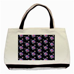 Flowers Pattern Background Lilac Basic Tote Bag