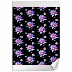 Flowers Pattern Background Lilac Canvas 12  X 18   by BangZart