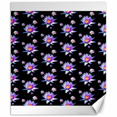 Flowers Pattern Background Lilac Canvas 20  X 24   by BangZart