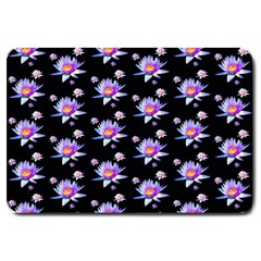 Flowers Pattern Background Lilac Large Doormat  by BangZart
