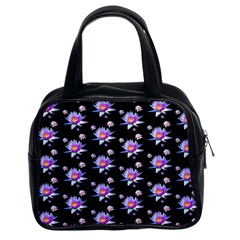 Flowers Pattern Background Lilac Classic Handbags (2 Sides)