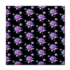 Flowers Pattern Background Lilac Face Towel by BangZart