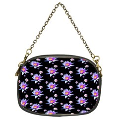Flowers Pattern Background Lilac Chain Purses (one Side)  by BangZart