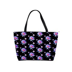 Flowers Pattern Background Lilac Shoulder Handbags by BangZart