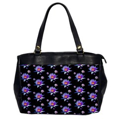 Flowers Pattern Background Lilac Office Handbags by BangZart