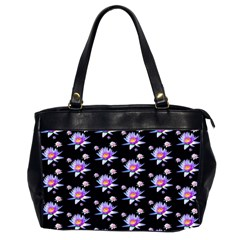Flowers Pattern Background Lilac Office Handbags (2 Sides)  by BangZart