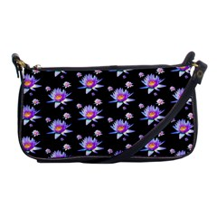 Flowers Pattern Background Lilac Shoulder Clutch Bags by BangZart