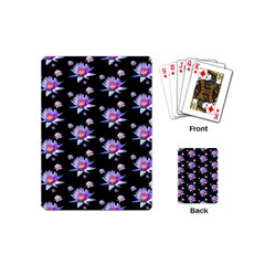 Flowers Pattern Background Lilac Playing Cards (mini)  by BangZart