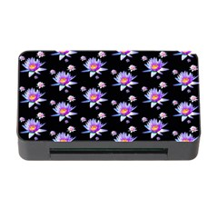 Flowers Pattern Background Lilac Memory Card Reader With Cf by BangZart