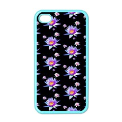 Flowers Pattern Background Lilac Apple Iphone 4 Case (color) by BangZart