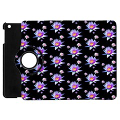 Flowers Pattern Background Lilac Apple Ipad Mini Flip 360 Case by BangZart