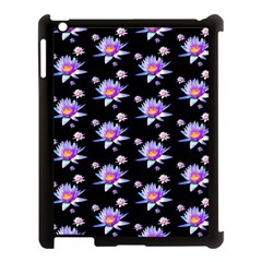 Flowers Pattern Background Lilac Apple Ipad 3/4 Case (black) by BangZart