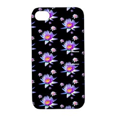Flowers Pattern Background Lilac Apple Iphone 4/4s Hardshell Case With Stand by BangZart