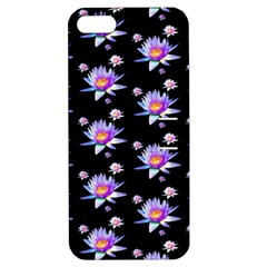 Flowers Pattern Background Lilac Apple Iphone 5 Hardshell Case With Stand by BangZart