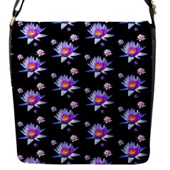 Flowers Pattern Background Lilac Flap Messenger Bag (s) by BangZart