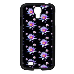 Flowers Pattern Background Lilac Samsung Galaxy S4 I9500/ I9505 Case (black) by BangZart