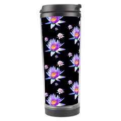 Flowers Pattern Background Lilac Travel Tumbler
