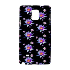 Flowers Pattern Background Lilac Samsung Galaxy Note 4 Hardshell Case by BangZart