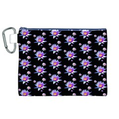 Flowers Pattern Background Lilac Canvas Cosmetic Bag (xl) by BangZart