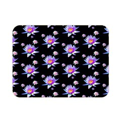 Flowers Pattern Background Lilac Double Sided Flano Blanket (mini)  by BangZart
