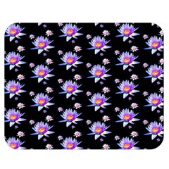 Flowers Pattern Background Lilac Double Sided Flano Blanket (medium)  by BangZart