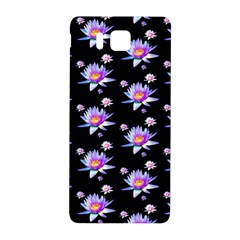 Flowers Pattern Background Lilac Samsung Galaxy Alpha Hardshell Back Case
