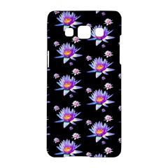 Flowers Pattern Background Lilac Samsung Galaxy A5 Hardshell Case  by BangZart