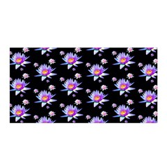 Flowers Pattern Background Lilac Satin Wrap