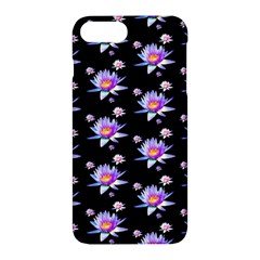 Flowers Pattern Background Lilac Apple Iphone 7 Plus Hardshell Case