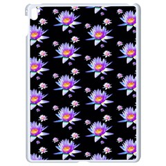 Flowers Pattern Background Lilac Apple Ipad Pro 9 7   White Seamless Case by BangZart