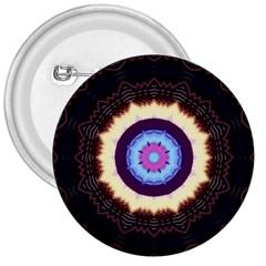 Mandala Art Design Pattern 3  Buttons by BangZart