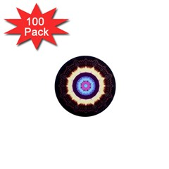 Mandala Art Design Pattern 1  Mini Magnets (100 Pack)  by BangZart