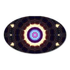Mandala Art Design Pattern Oval Magnet by BangZart