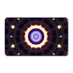 Mandala Art Design Pattern Magnet (rectangular) by BangZart
