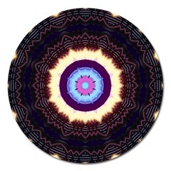 Mandala Art Design Pattern Magnet 5  (round) by BangZart