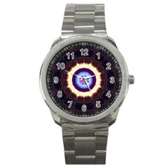 Mandala Art Design Pattern Sport Metal Watch by BangZart