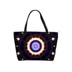 Mandala Art Design Pattern Shoulder Handbags by BangZart